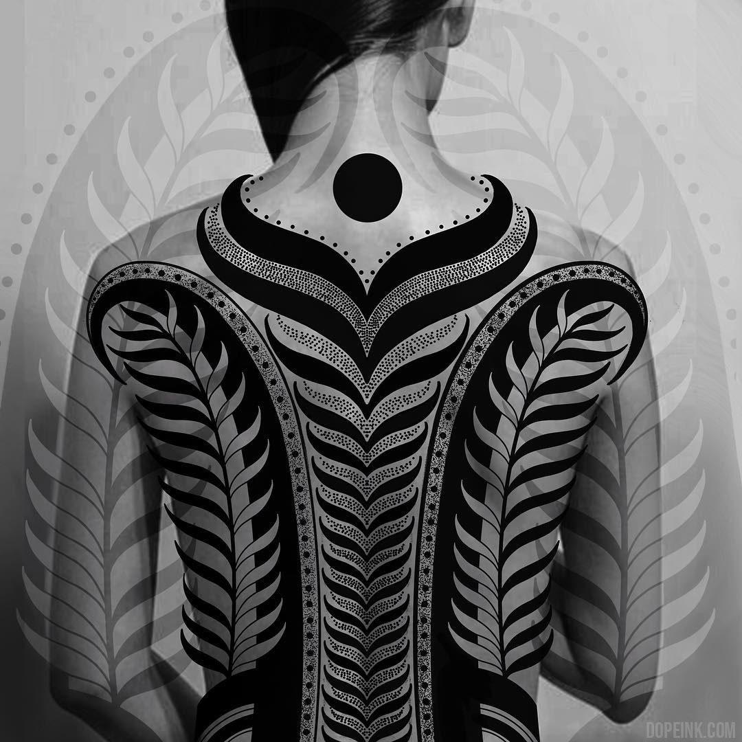 Эскиз татуировки орнамент